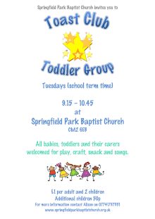 Toddler group poster